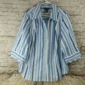 Lane Bryant 18/20 or 2x button up Blues nwot